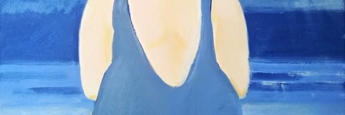 i det blå